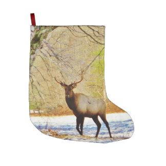 Stier-Elche im Schnee Großer Weihnachtsstrumpf