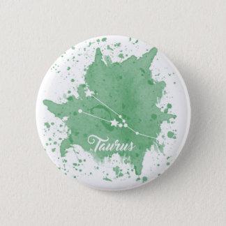 Stier-grüner Knopf Runder Button 5,1 Cm