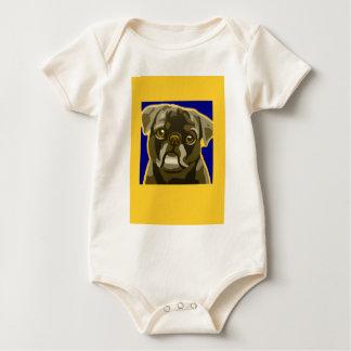 Stier-HundePop-Kunst addieren Haustier-Namen Baby Strampler