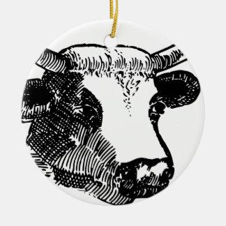 Stier-Kopf mit Hörnern Keramik Ornament