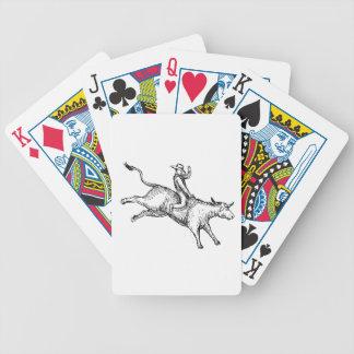 Stier-Reitrodeo-Cowboy-Zeichnen Bicycle Spielkarten