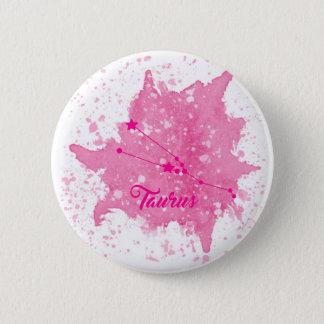 Stier-rosa Knopf Runder Button 5,7 Cm