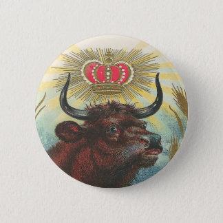 Stier Runder Button 5,7 Cm