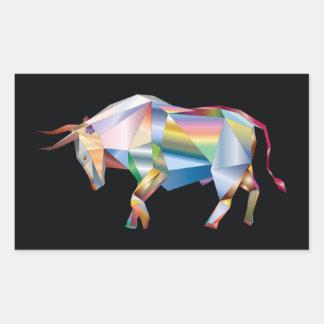 Stier-Stier-Regenbogen-Prisma Rechteckiger Aufkleber
