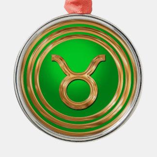 Stier-Symbol Silbernes Ornament