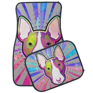 Stier-Terrier-buntes Pop-Kunst-Porträt Automatte