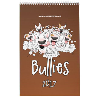 Stier-Terrier-Cartoon-Kalender 2017 Wandkalender
