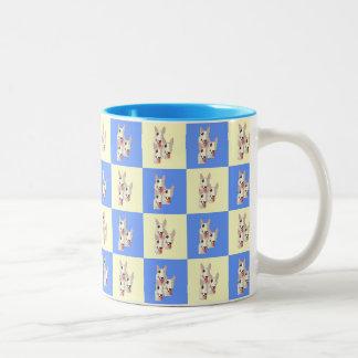 Stier-Terrier-Checkered Tasse