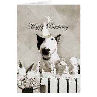 """Stier-Terrier-Foto-Karte """"alles Gute zum Karte"""