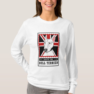 Stier-Terrier-Frauen-Shirt Hülse T-Shirt