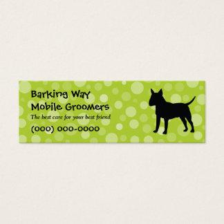 Stier-Terrier-Haustier-Sorgfalt Limon Mini Visitenkarte