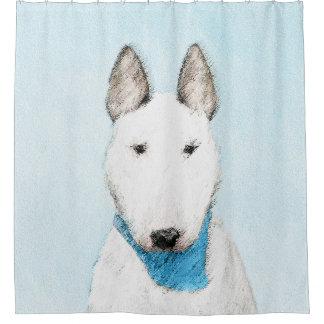Stier-Terrier-Malerei - niedliche ursprüngliche Duschvorhang