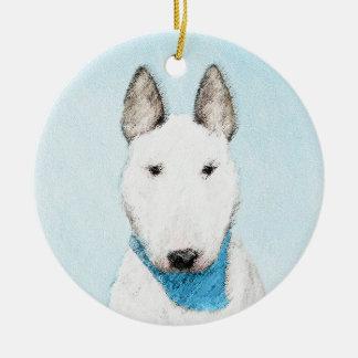 Stier-Terrier-Malerei - niedliche ursprüngliche Keramik Ornament