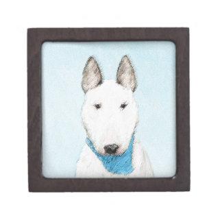 Stier-Terrier-Malerei - niedliche ursprüngliche Kiste