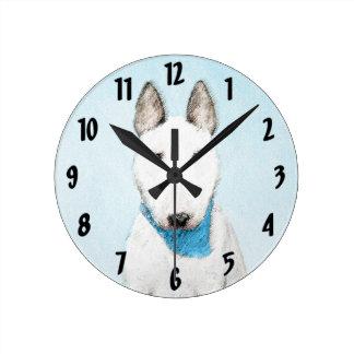 Stier-Terrier-Malerei - niedliche ursprüngliche Runde Wanduhr