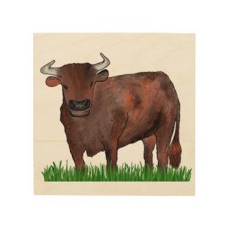 Stier-Tierkreis-Kunst-Holz-Platte Holzdruck