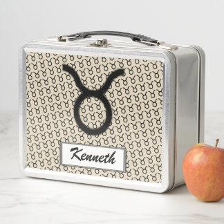 Stier-Tierkreis-Symbol-Standard durch Kenneth Metall Lunch Box