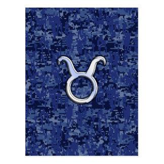 Stier-Tierkreis-Zeichen auf Postkarte