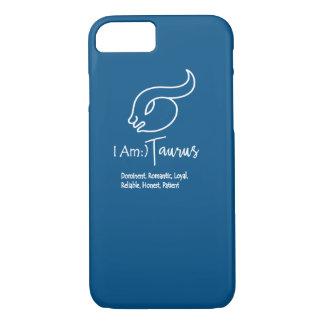 Stier-Tierkreis-Zeichen das Stiersnorkel-Blau iPhone 7 Hülle