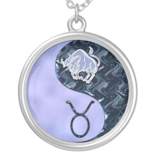 Stier Yin Yang Personalisierte Halskette