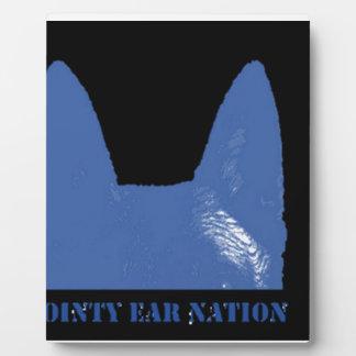 STIFT Blau auf Schwarzem Fotoplatte