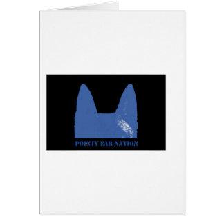 STIFT Blau auf Schwarzem Karte