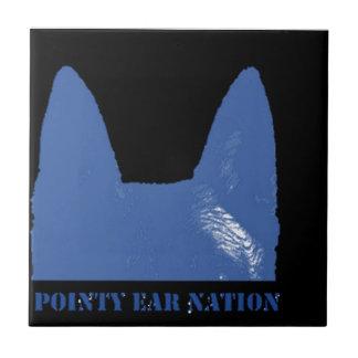 STIFT Blau auf Schwarzem Keramikfliese