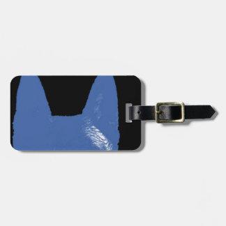 STIFT Blau auf Schwarzem Kofferanhänger