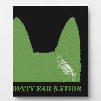 STIFT Grün auf Schwarzem Fotoplatte