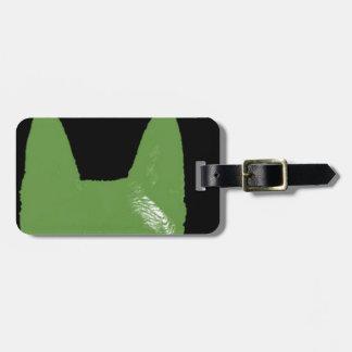 STIFT Grün auf Schwarzem Gepäckanhänger