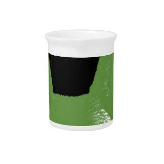 STIFT Grün auf Schwarzem Getränke Pitcher
