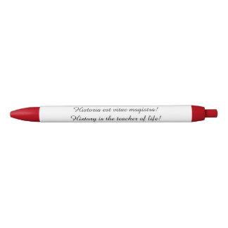 Stift mit lateinischem Sprichwort (Geschichte ist