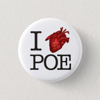 """Stift """"Poe Heart"""" Runder Button 3,2 Cm"""