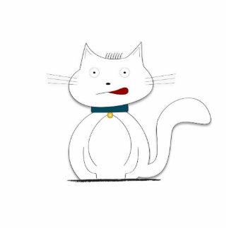 Stift - Weiße Katze Fotostatue