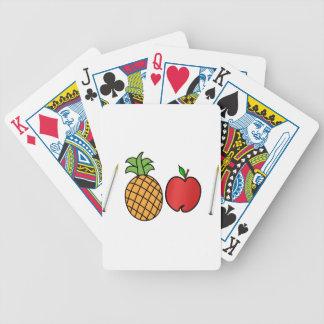 Stiftananas-Apfelstift Bicycle Spielkarten