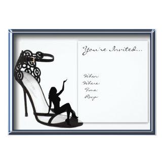 Stilett-Schatten-Einladung 12,7 X 17,8 Cm Einladungskarte