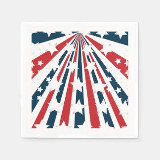 Stilisierte Flagge-Papierservietten Serviette