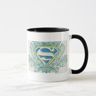 Stilisierte | Flügel des Supermann-und Namenslogo Tasse