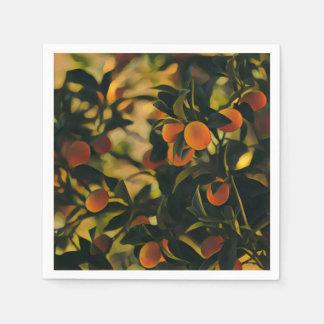 Stilisierte Orangenbaum-Papierserviette Papierserviette