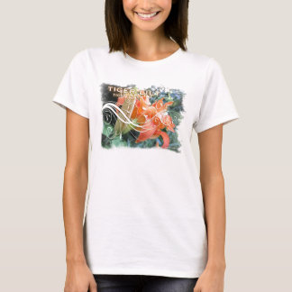 Stilisierte Tiger-Lilie T-Shirt