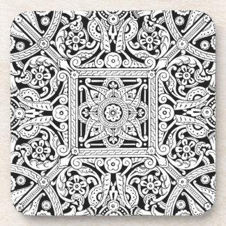 Stilisierter Deckenverkleidungsentwurf, 1870 Untersetzer