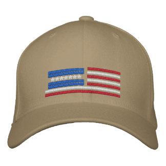 Stilisierter Flagge-Entwurf Bestickte Caps
