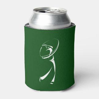 Stilisierter Golfspieler, der weg abzweigt Dosenkühler