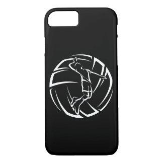 Stilisierter männlicher Volleyball-Spieler mit iPhone 8/7 Hülle