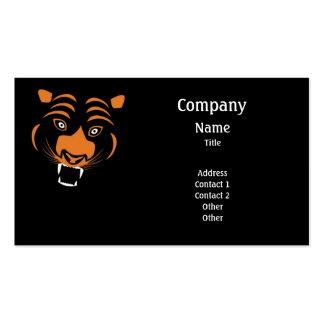 Stilisierter orange Tiger Visitenkarten