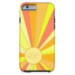 Stilisierter Sun-Entwurf Tough iPhone 6 Hülle