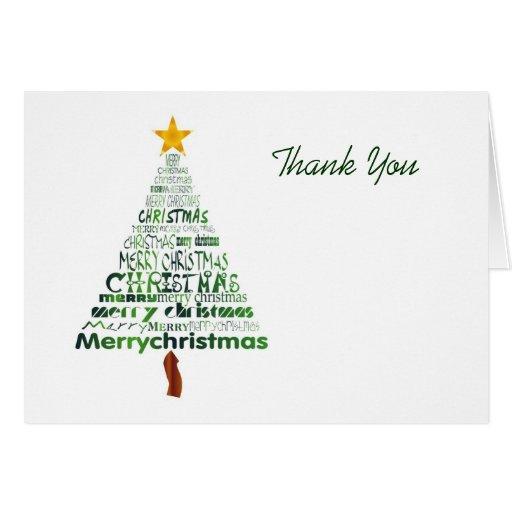 stilisierter weihnachtsbaum danken ihnen zu karten zazzle. Black Bedroom Furniture Sets. Home Design Ideas