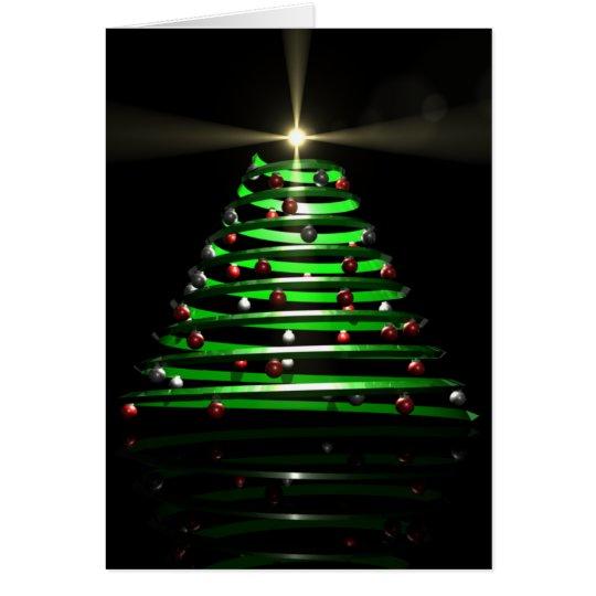 stilisierter weihnachtsbaum karte zazzle. Black Bedroom Furniture Sets. Home Design Ideas
