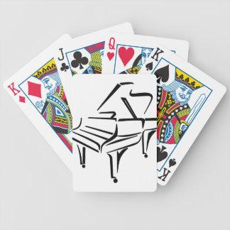Stilisiertes Klavier Bicycle Spielkarten