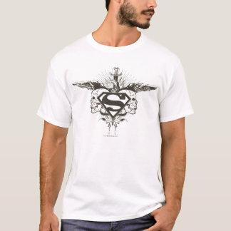 Stilisiertes | Schädel-Logo des Supermann- T-Shirt